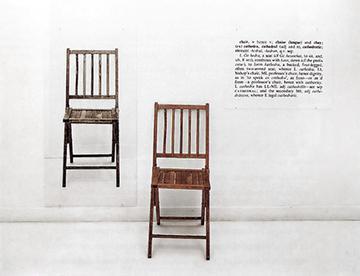 Joseph Kosuth Jedno i trzy krzesła